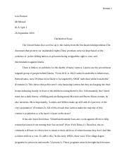 discrimination essay luis r a v i d period  3 pages declaration essay 16 17