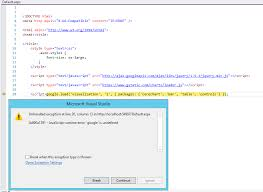 Html Font Size Chart Javascript Visual Studio 2013 Iis Web Site Problems With