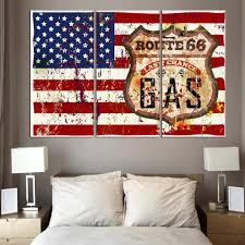 3 piece wall art painting american flag in red white and blue 1004 on red white wall art with 3 piece wall art painting american flag in red white and blue 1004