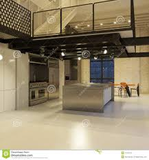 Loft Kitchen Contemporary Loft Kitchen Royalty Free Stock Photography Image