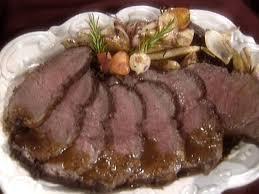 roasted new york strip steak with port
