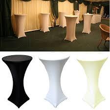 vlovelife black 32 lycra stretch cocktail poseur dry bar spandex table cover