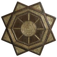 Indian Coffee Table Circular Inlaid Cedar Indian Coffee Table At 1stdibs