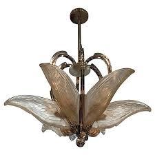 art deco chandelier regarding french with geometric flying bird motif by p remodel 15