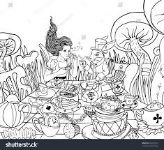 Small Picture Mad Tea Party Alices Adventures Wonderland Stock Vector 440229241