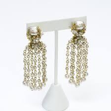miriam haskell chandelier pearl earrings