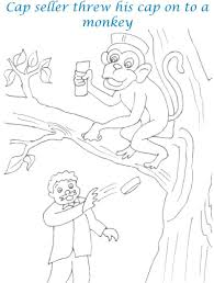 Small Picture Cap seller story coloring page for kids 19