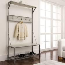 Free Standing Coat Rack With Bench Metal Coat Rack Stand Bench Hall Tree Free Standing Entryway Shoe 47
