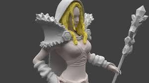 dota 2 crystal maiden 3d print model cgtrader