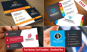 40 Professional Free Business Card Templates With Source
