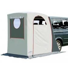 Rear cabin tent, fits onto the back of a suv or mini van. not a bad ...