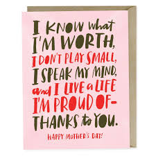 Know My Worth Mothers Day Card