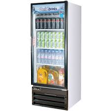 Glass Refrigerator Turbo Air Tgm 11rv White Single Glass Door Reach In Merchandising