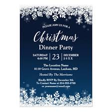 White Christmas Invitations Midnight Blue Snowflakes White Christmas Party Invitation