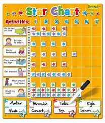 Details About Large Magnetic Star Reward Chart For Up To 4 Children Good Behavior Fiesta Craft