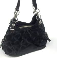 COACH Madison Hobo Shoulder Bag  15757 Black Signature Fabric   Leather -  ReuseNation