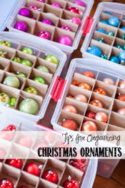 organize ornaments by color