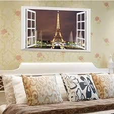 Eiffel Tower Home Decor Accessories 100D Window Paris Eiffel Tower Wall Stickers Art Vinyl Decal Mural 70