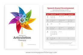 Speech Sounds Development Chart Download New Speech Therapy Handouts Mommy Speech Therapy