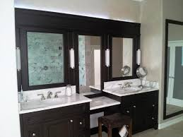 double sink home depot bathroom cabinets and vanities under framed mirrors and small bench