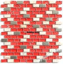 red glass tile red glass mosaic tile kitchen stone mosaic bathroom tiles glass metallic mosaic glass
