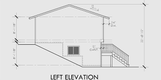 house side elevation view for 9935 split level house plans small house plans house