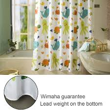 shower curtain shower environmentally friendly. Amazon.com: Wimaha Kids Shower Curtain, Fabric Curtains Soft Funny Curtain Cartoon Animal Print Eco-friendly For Children\u0027s Bathroom Bathtub, Environmentally Friendly A