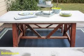 concrete dining room table luxury ana white x base outdoor concrete table and bench set diy projects