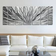 art metal abstract wall contemporary large multi panel all silver fullxfull painting circle bubble wave shaped