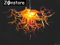 orange love chandelier small hanging chain chandelier chihuly style murano art glass led decorative crystal chandelier and pendant lamps pendant lights