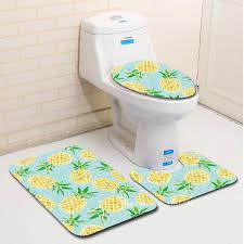 2018 zeegle creative bathroom bath mat set washable toilet rug toilet lid cover anti slip floor mats pads bathroom accessories bathroom bath mat set