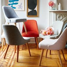 wood and fabric dining chairs monumental mid century upholstered chair west elm home interior 29