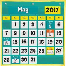 Space Saver Calendar Pocket Chart