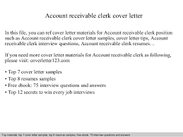 Account Receivable Clerk Cover Letter 1 638 Cb Brilliant Ideas Of