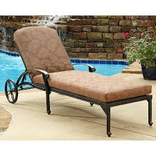 home styles fl blossom aluminum chaise lounge chair with cushion