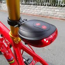 5 Led 2 Laser Bike Light 7 Flash Mode Cycling Safety Bicycle Rear Lamp Waterproof Laser Tail Warning Lamp Flashing Free Shipping