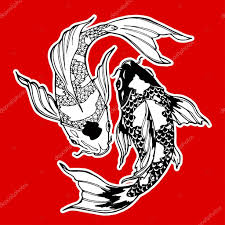 кои рыбы символ инь ян стоковое фото Xaxalerik 98710464
