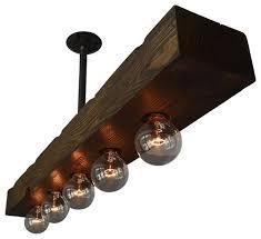 island lighting for kitchen. West Ninth Vintage - Recessed 5-Light Wood Beam Kitchen Island Lighting For