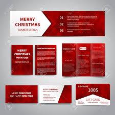 Merry Christmas Banner Print Merry Christmas Banner Flyers Brochure Cards Gift Card Design