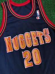 90 S Laphonso Ellis Denver Nuggets Champion Nba Jersey Size 44