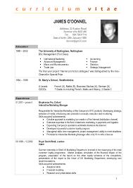 Francais Curriculum Vitae Template Ossaba Com