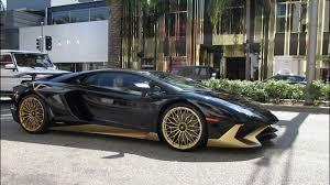 lamborghini aventador black and gold. black u0026 gold lamborghini aventador sv in beverly hills and k