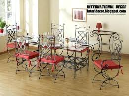 wrought iron indoor furniture. Wrought Iron Indoor Furniture Dining Table And Chairs Painting . P
