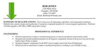resume summary example engineer   resumeseed com  amazing resume summary example