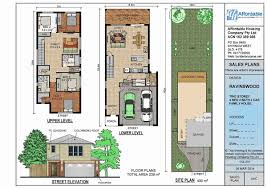 narrow lot luxury house plans best of luxury narrow lot homes plans perth home lots building