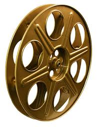 wooden movie reel film wall decor