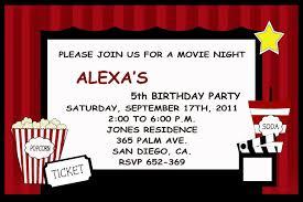 Movie Invitation Template Free Unusual Movie Invite Template Images Example Resume Templates 15