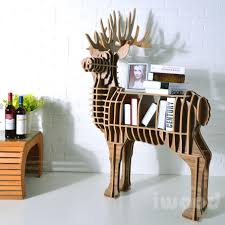 Full Size of Furniture, Reindeeer wooden storage creative entryway furniture  cute shelf animal shape rack ...
