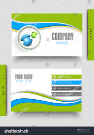 Creative Business Card Design Front Back Stock Vector Royalty Free