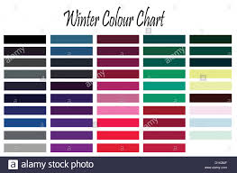 Color Chart For Winter Type Woman For Clothes And Makeup